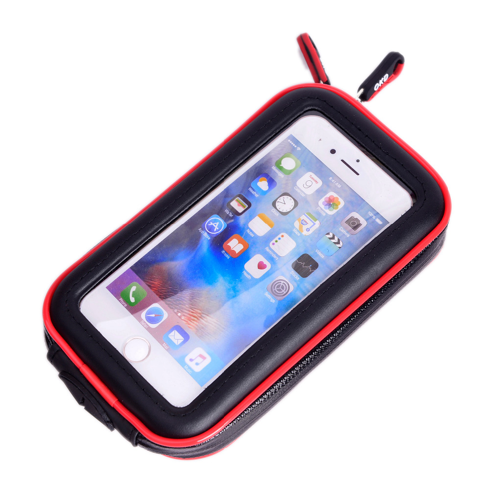 Image 2 - 2018 Upgrade 360 Degree GPS Motorcycle Waterproof Bag Bicycle Phone Holder Adjustable Handlebar Support Moto Mount Card slotsbicycle phone holdermoto mountphone holder -