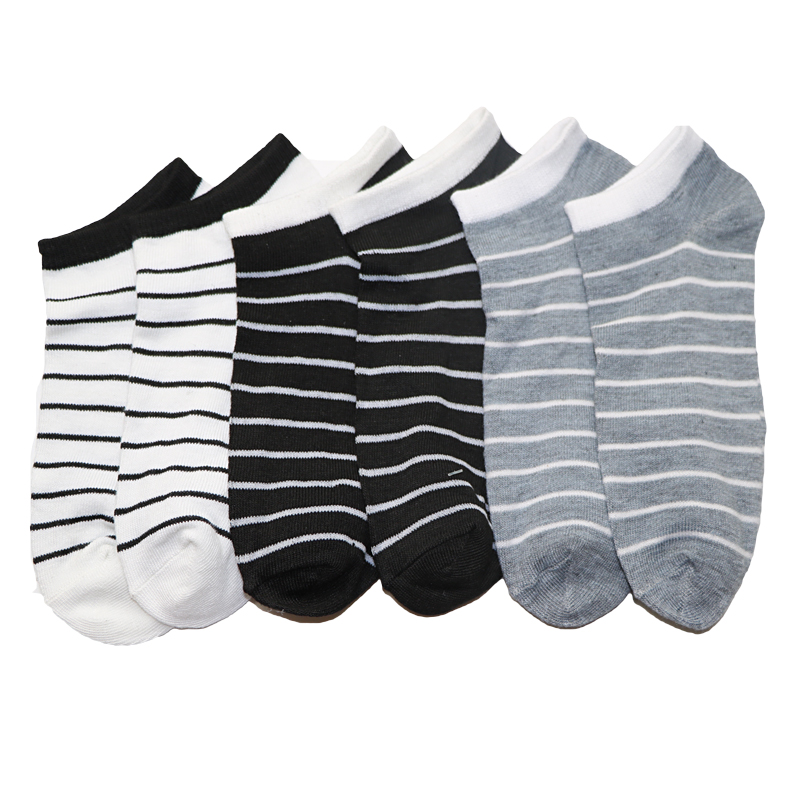 1Pair Colorful Mens Stripes Socks Meias Homens Summer Casual Boat Ankle Socks Male 3D Sock Socks Mens Brand New