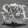 Fab Silver Grim Reaper Skull Santa Muerte Mayhem Pagan Wicca Witch Belt Buckle Exchange Jewelry Acessories Men