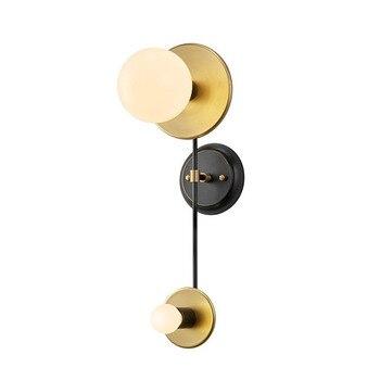 โพสต์โมเดิร์นโคมไฟติดผนังทองแดงเรียบง่าย Golden ห้องนั่ง