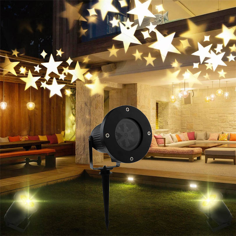 Outdoor Rotating Sky Star Starry laser Projector Lights Waterproof Christmas Holiday Decoration Landscape Garden Projector Lamp