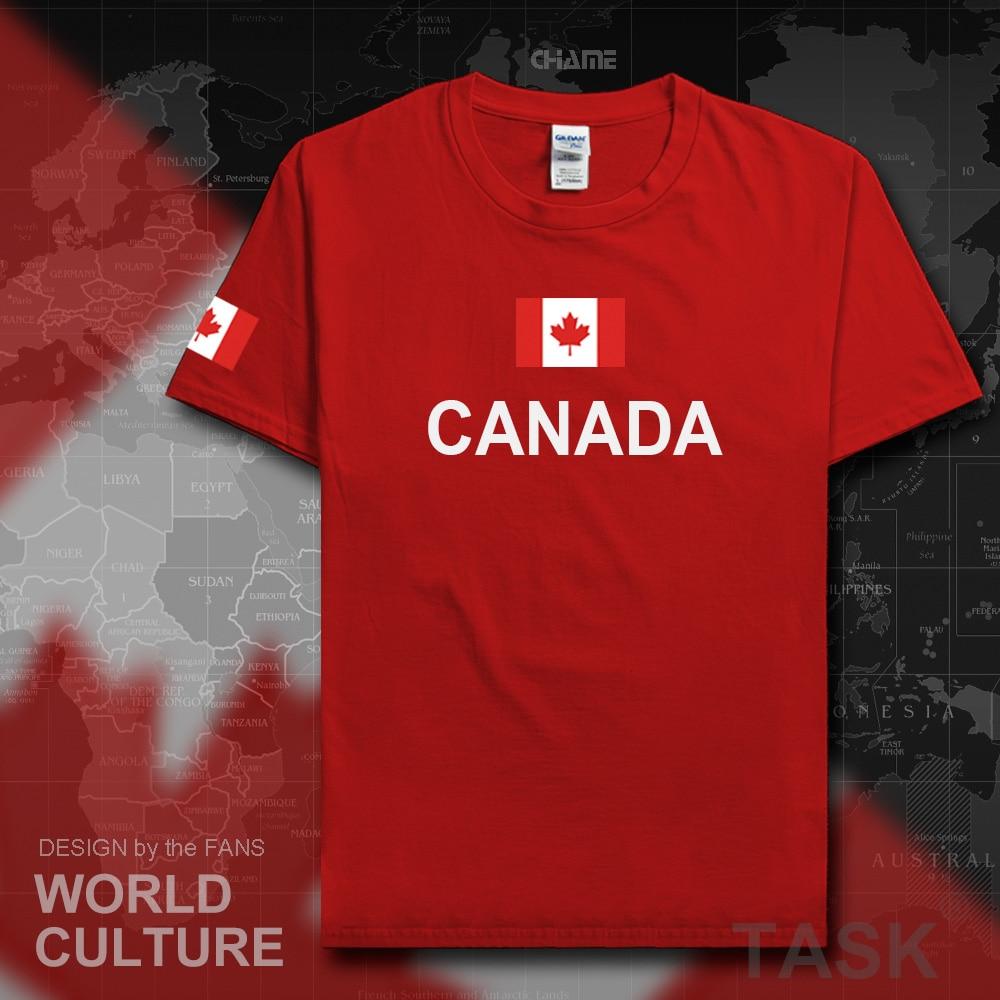Design t shirt online canada - Canada Canadians T Shirt Men Jerseys 2017 Tops T Shirt 100 Cotton Nation Team