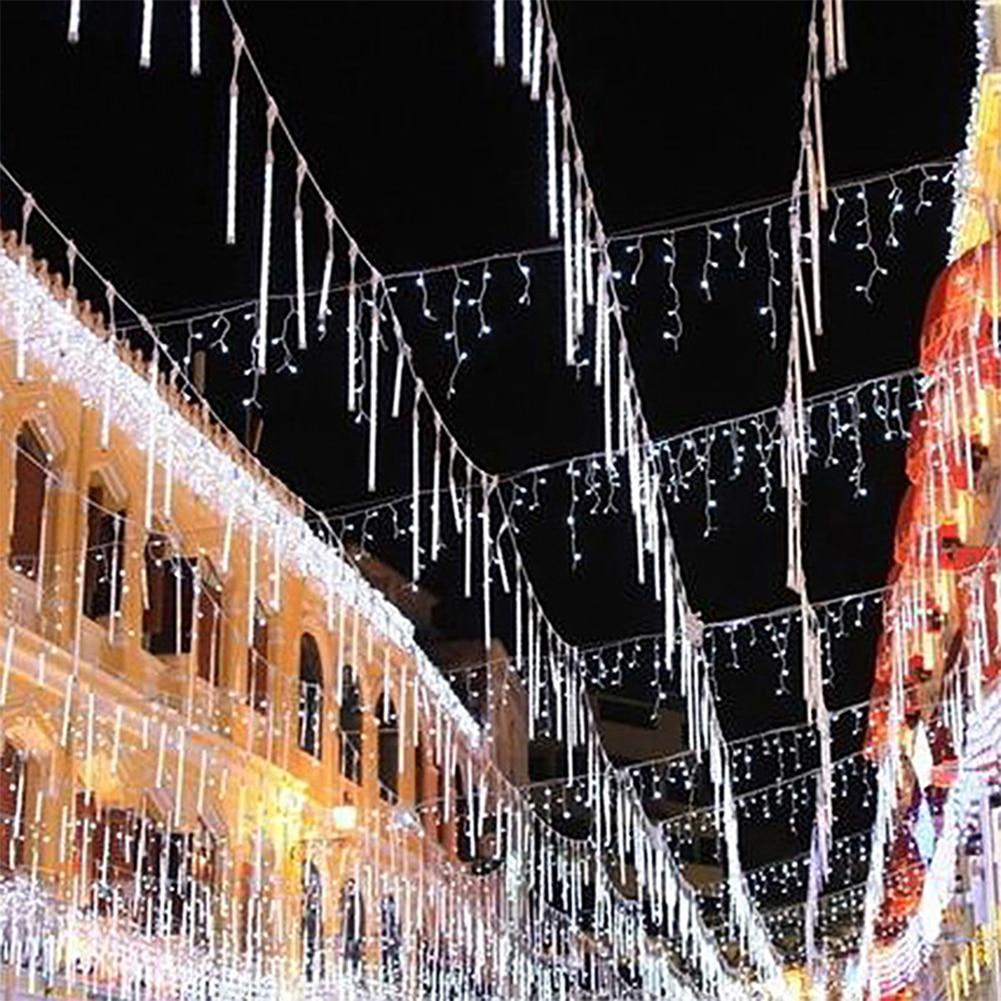 LED Christmas Xmas Lights 10pcs Tubes 30cm 50cm Snowfall Tube Meteor Shower Rain Tube LED String Light Christmas Lights Outdoor