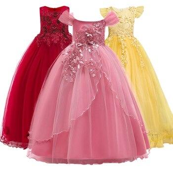 2018 new summer Princess sleeveless dress girl's wedding dress, girls' partynoble temperament,dress 5-14yrs It's beautiful.
