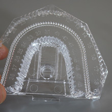 100 Pcs/ lot Disposable Plastic Dental Mold Base Denture Tray Lab Sectioned Kit Transparent Clear