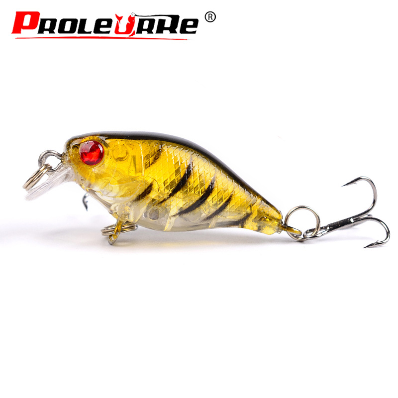 Proleurre 4.4cm 4.4g Fishing Lure Minnow Wobblers Top water Swim Bait with Hooks Artificial Hard Bait Crankbait Fishing tackle sft sea bass fishing lures crank bait crankbait tackle swim floating minnow fishing bait with japan hooks 50