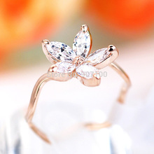 NEW wholesale famous 18K rose gold plated Jewelry flower Austrian crystal Cubic Zircon font b diamond