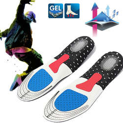 Бесплатная Размеры Мужская ортопедических Arch Поддержка спортивные стельки спортивные кроссовки Gel мягкие вставки для Для мужчин Для