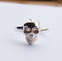 Sterling Silver lebka prsten všech velikostí