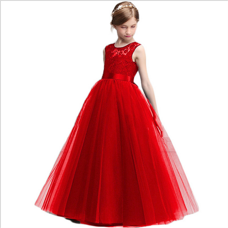 Wedding and Party Dresses For Girls Birthday Party For Grils Clothes Flowers Princess Clothing Summer Girls Long Dresses