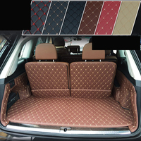 lsrtw2017 fiber leather car trunk mat for audi Q7 2008 2009 2010 2011 2012 2013 2014 2015 2016 2017 2018 2019 rs q7