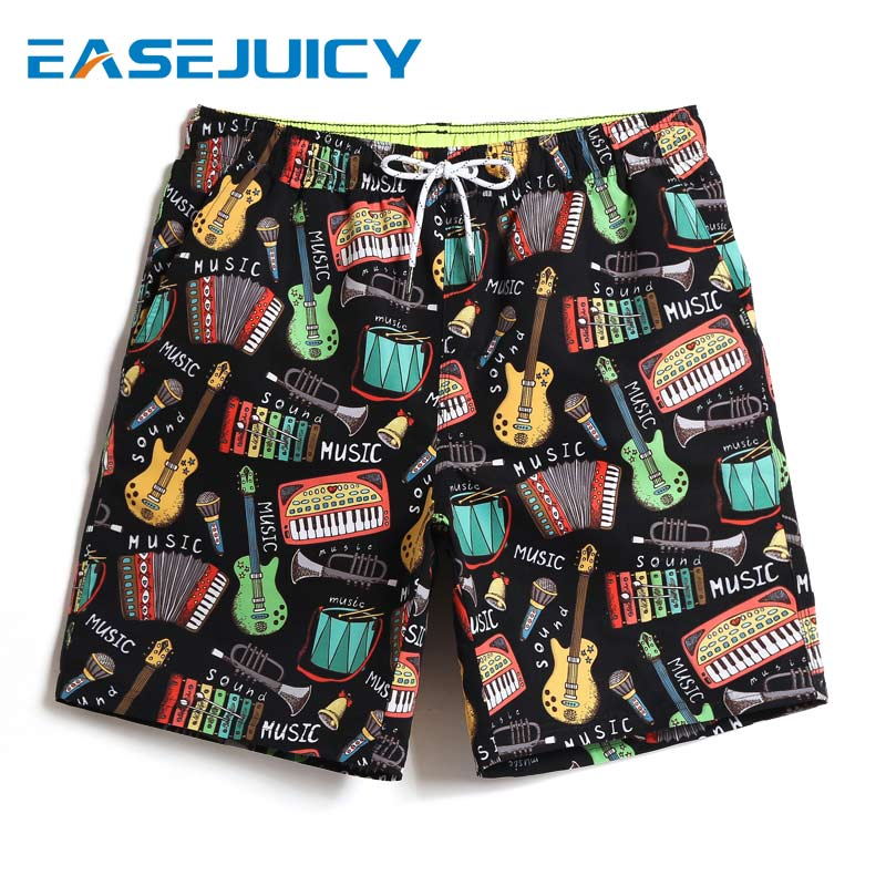 New Board shorts Men's bathing suit swimsuit liner quick dry surfing hawaiian bermudas joggers printed swimwear mesh