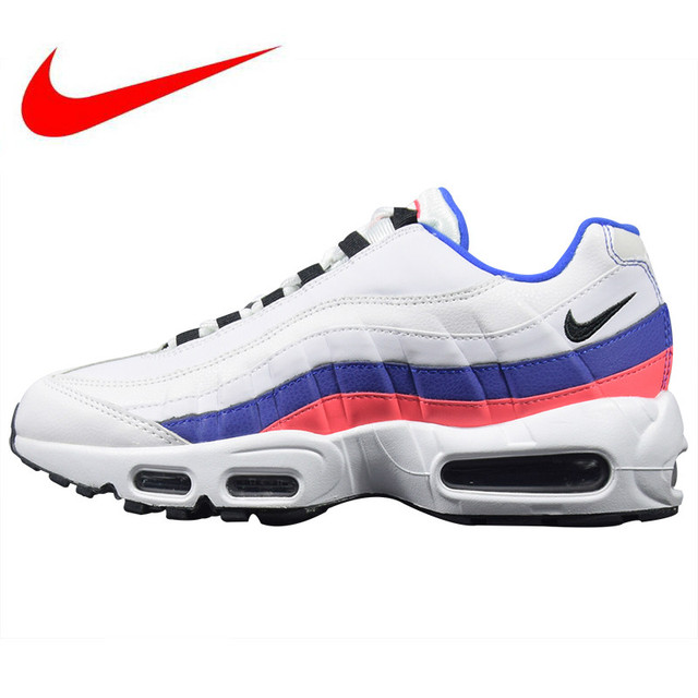 huge discount ce97c bd0db Original Nike Air Max 95 TT Mens and Womens Running Shoes, White, Outdoor  Sports Shoes Breathable Non-slip Shock 748766 106