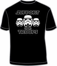 SUPPORT OUR TROOPS STORMTROOPER T-SHIRT Screen Printed S M L XL 2XL STAR WARS Free shipping