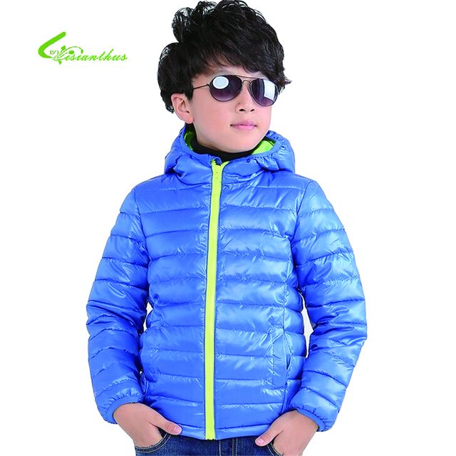 d80392c93263 2016 Boys and Girls Winter Jacket With Cotton Padded Hooded Turn ...