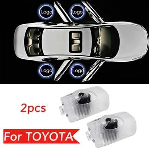 2X Led For Toyota logo light For Land Cruiser Prado HighLander Camry Avalon Prius Venza 4 Runner Car Door Light Accessories(China)
