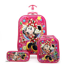 Boy's Car Trolley Case Wheeled Rolling Bag 3D Children Travel Suitcase Trolley School Backpack Kid's Trolley Bags with Wheels(China)