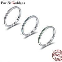 The fairy 925 modern fashion simple and delicate hollow thin strip inlay purple natural zircon