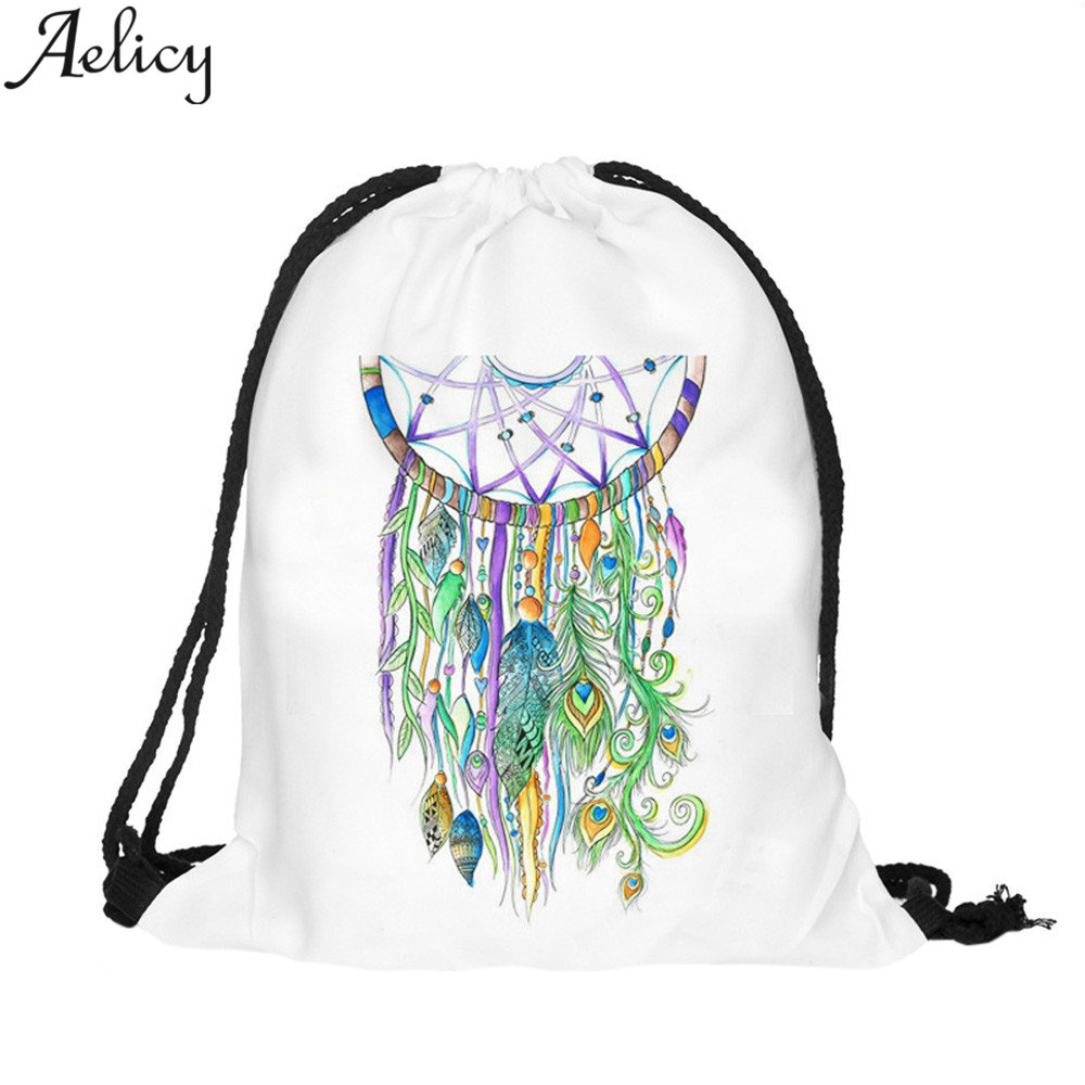 Aelicy New 3D Printing Mochila Feminina Backpack Women Daily Fashion Casual Drawstring Bag Womens Backpack Girl PouchesAelicy New 3D Printing Mochila Feminina Backpack Women Daily Fashion Casual Drawstring Bag Womens Backpack Girl Pouches