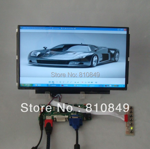 HDMI+DVI+VGA Control board+13.3inch 1366*768 N133BGE B133XW01 LTN133AT16 Lcd hdmi vga av audio usb fpv control board 13 3inch 1366 768 n133bge lp133wh2 lcd screen model lcd for raspberry pi