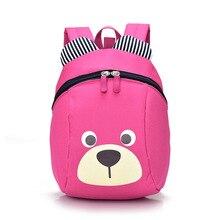 2017 New Children Bag Oxford Cloth Cartoon Bear Anti-Lost Kindergarten Shoulder Bag Lovely For Kids