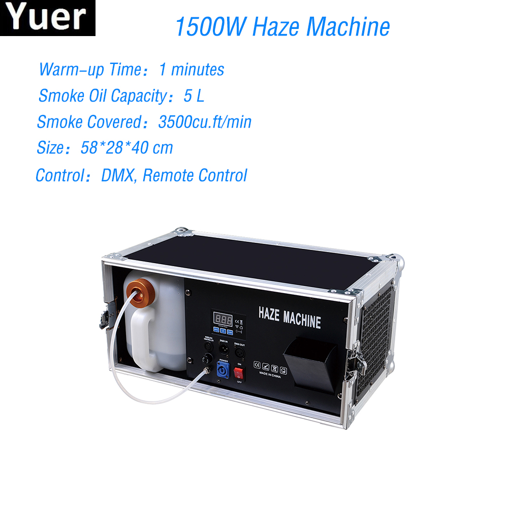 1500W Haze Machine 5L Liquid Tank Fog Machine Pro Morning Haze Machine DMX 512 Smoke Machine For Stage Bar Disco DJ Equipment жидкость для генераторов эффектов синтез аудио disco fog haze oil 1