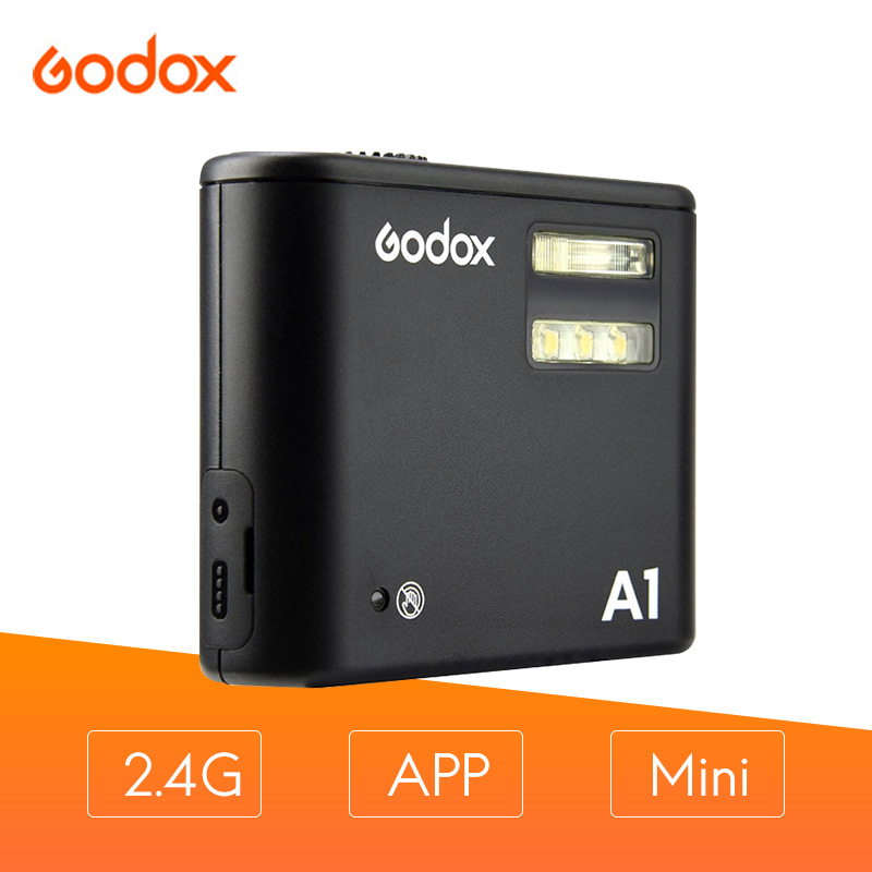Godox A1 mobile light portable flash light compatible with 2.4G and 433HZ wireless transmission function For IPHONE 7/7P/6S/6SPGodox A1 mobile light portable flash light compatible with 2.4G and 433HZ wireless transmission function For IPHONE 7/7P/6S/6SP