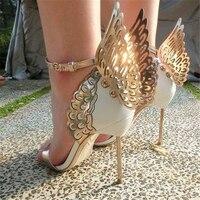 Hanbaidi Sandalias Mujer 2018 New Fashion Women Sandals Sexy Butterfly Women High Heels Shoes Mental Heels Gladiator Sandals