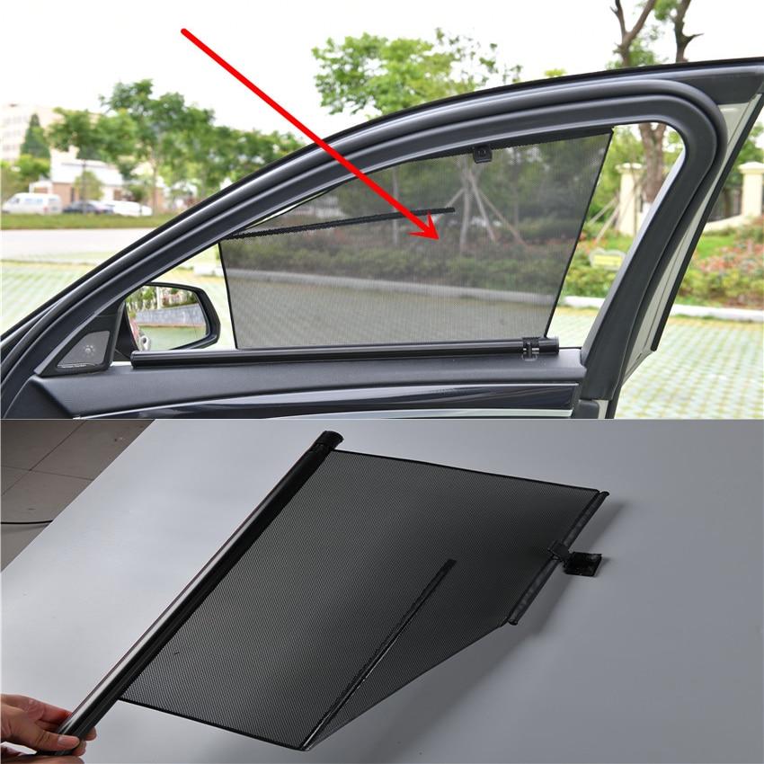 2 pcs/lot voiture flexible porte fenêtres d'ombrage rideau pour BMW série 7 F01 X5 F15 G05 X6 F16 G06 X4 F26 X3 F25 X1 F48 F10 G30