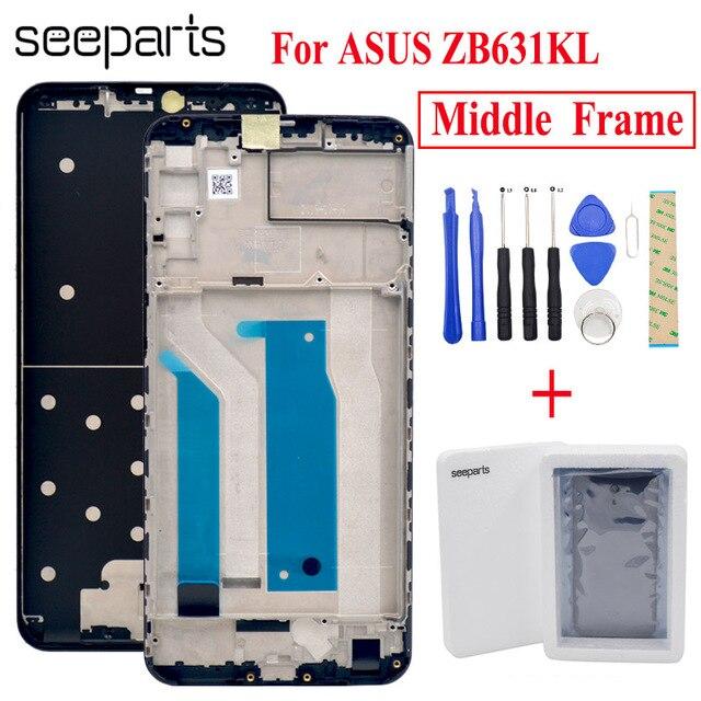שחור עבור Asus Zenfone מקסימום פרו (M2) ZB631KL התיכון שיכון מסגרת הלוח הקדמי התיכון החלפת חלקים עבור ASUS ZB631KL אמצע מסגרת