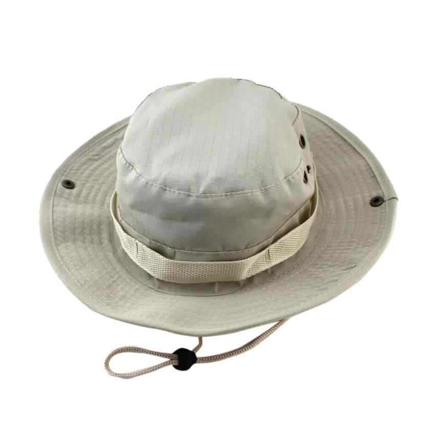 ... 2018 New Unisex Adjustable Cap Solid Boonie Hats Fisherman Hat Sun  Protection Hat Cap Dropshipping Jun ... 05d3fce1d6b6