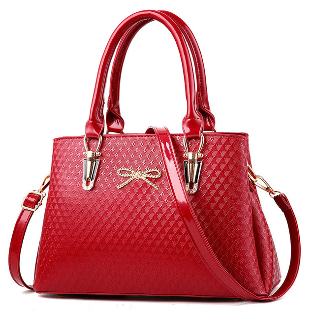 Woman Bags Elegant Office Ladies Fashion Handbags Solid Color Wine Red Beige Black Blue Pink Newest Crossbody Tote