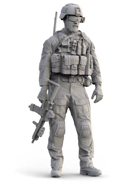 1/16 Resin Figures Model Kits Modern US Army Special Soldiers 16188D