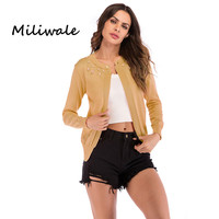 New women cardigan winter knitted long sleeve O neck jacket cape female solid coat for women