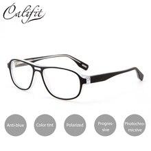 4fc2e9bd85 CALIFIT Fashion Prescription Glasses Men Transparent Progressive Graduated  Glasses Male Degree Photochromic Lenses Spectacles