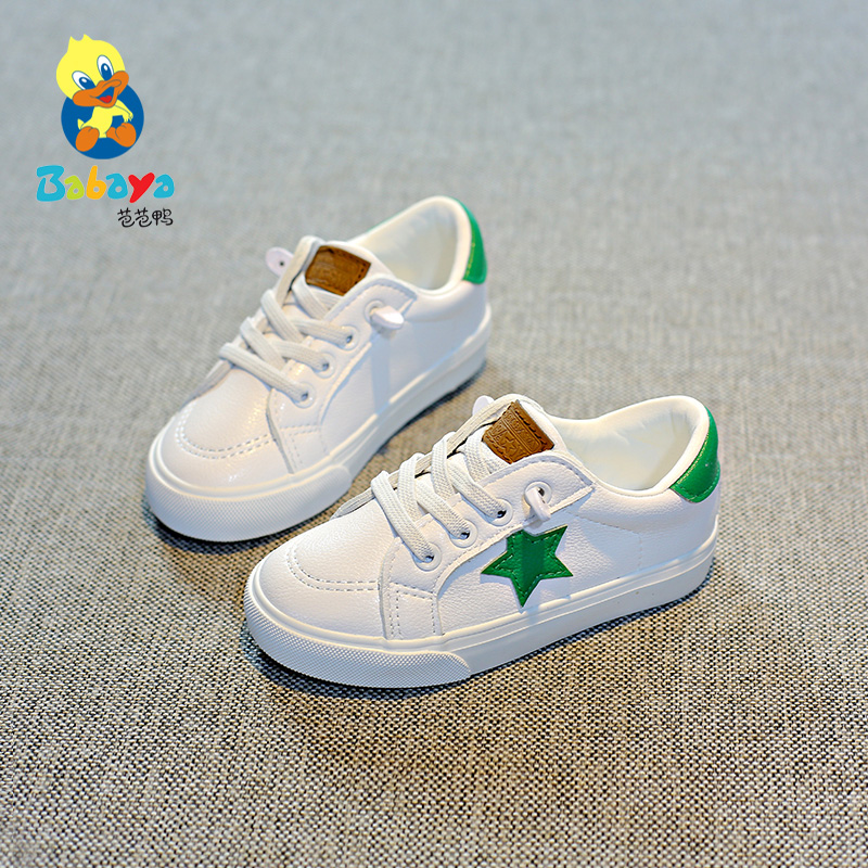 Babaya Children shoes boys infantile infant girl casual White shoes PU Leather kids sneakers School sports Running Toddler shoes