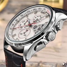 Men Watch PAGANI DESIGN Luxury Brand Quartz Movement Military Watches Leather Wristwatches Clock Relogio masculino With Gift Box oulm luxury brand mens leather band quartz watch three time zone male military army wristwatches with gift box relogio releges