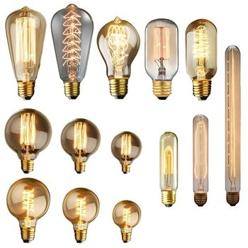 Vintage Edison Bulb E27 110V 220V Retro Lamp 40WAmpoule Vintage Light Bulb Edison Lamp Incandescent Light Filament Edison Bulb