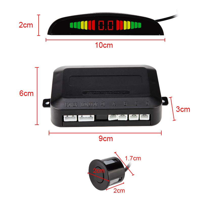 Image 4 - Car Auto Parktronic LED Parking Sensor With 4 Sensors Reverse Backup Car Parking Radar Monitor Detector System Backlight Display-in Parking Sensors from Automobiles & Motorcycles