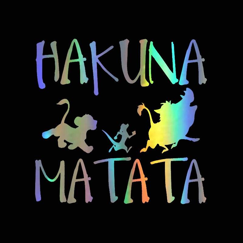 13.8cm13.3cm HAKUNA MATATA Lion King Simba Car-Styling Vinyl Car Sticker (4)