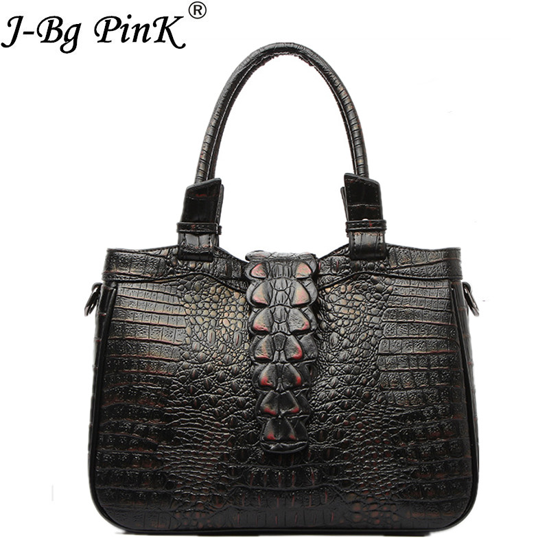 Women Crocodile Bag 100% Genuine Leather Women Handbag Hot Selling Tote Women 2018 Shoulder Bags Brand designer Crossbody Bags hot sale 2016 women leather bag women s handbag crocodile pattern crossbody bag for women pendant lady bags tote bolsas qt2020