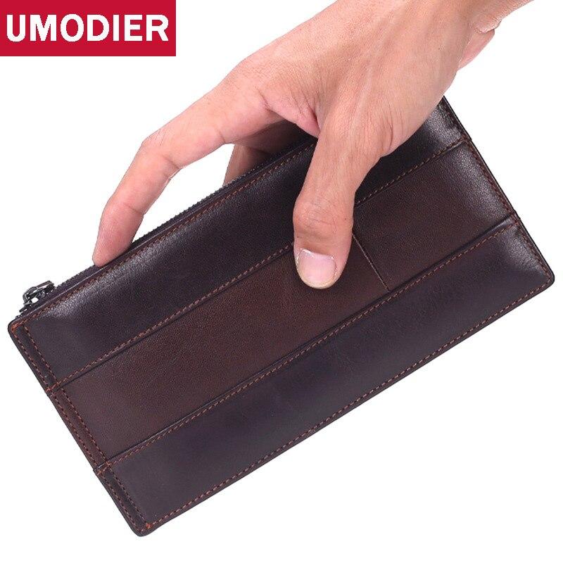 UMODIER Grade qualité femmes portefeuilles et sacs à main mode carteira masculina hommes carte de crédit et porte-monnaie hommes porte-monnaie