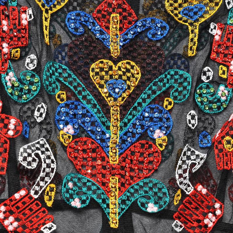Red RoosaRosee Summer Women's Long Sleeve Heavy Gauze Embroidery Long Sleeve Slim Black Gauze Long Maxi Dress Boho Vestidos Robe-in Dresses from Women's Clothing    3