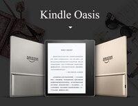 Kindle Oasis 8 GB E reader 7 дисплей с высоким разрешением (300 ppi) влагозащищенный встроенный звуковой Wi Fi ультратонкий подсветка E book