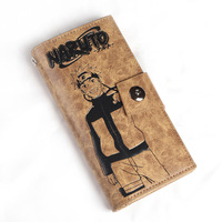 ANIME Naruto long Wallet Purse Zipper & Hasp Rectangular men women Long Purse Cartoon Card Bag 5 style