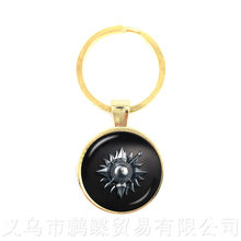 Song of Ice and Fire Game of Thrones Casa Stark Lobo Chaveiros Tempo Cabochon Pingente Chaveiro Das Mulheres Dos Homens(China)