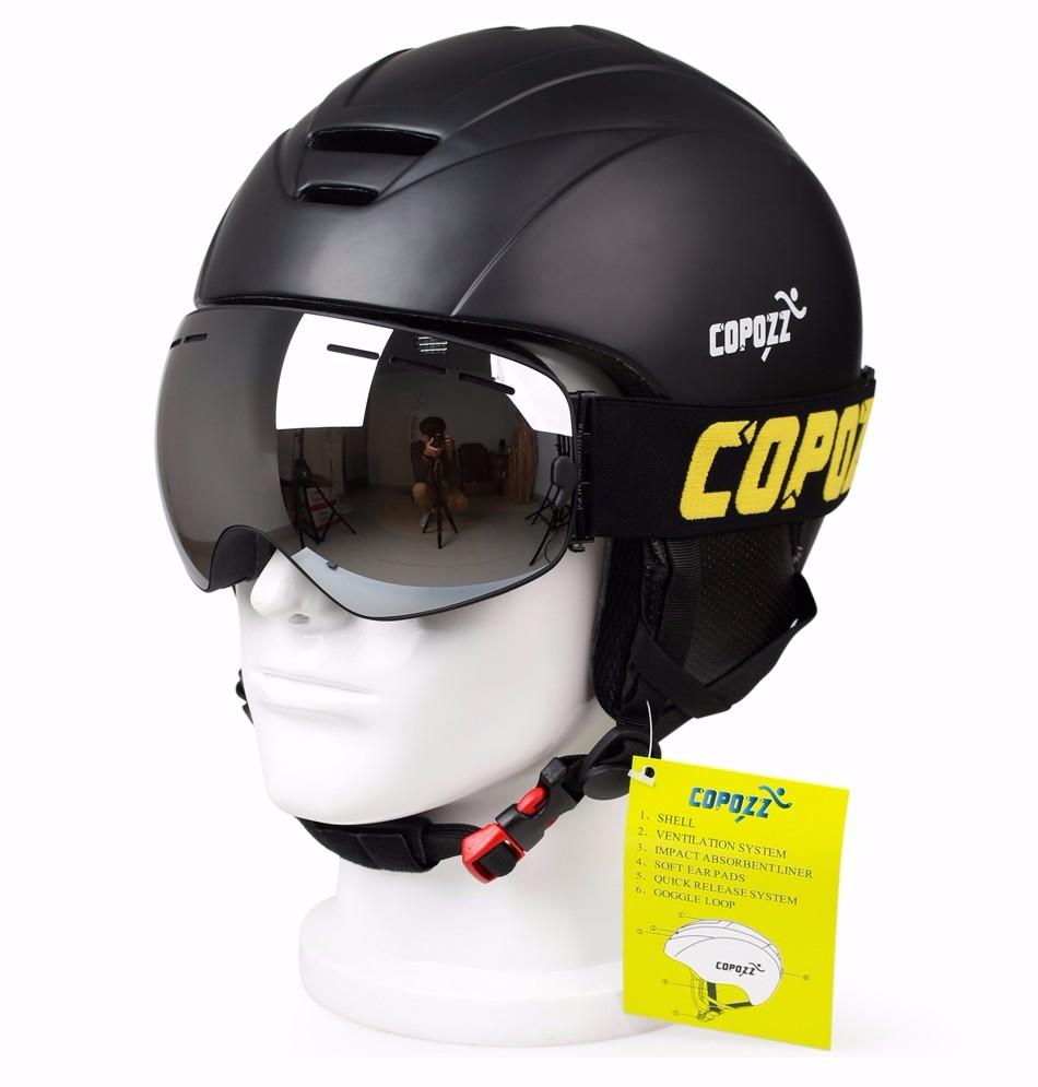 COPOZZ 2 camada lente anti fog de esqui óculos de proteção da marca ... a556619fe1