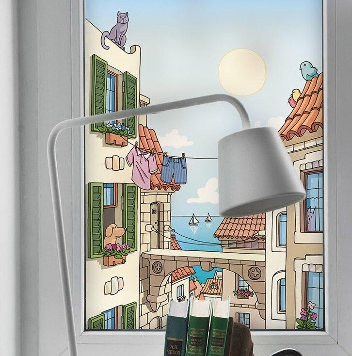 Custom Glass window Film electrostatic glass sticker,Poster Stickers ,waterproof for Pet shop bathroom living room kitchen kd01
