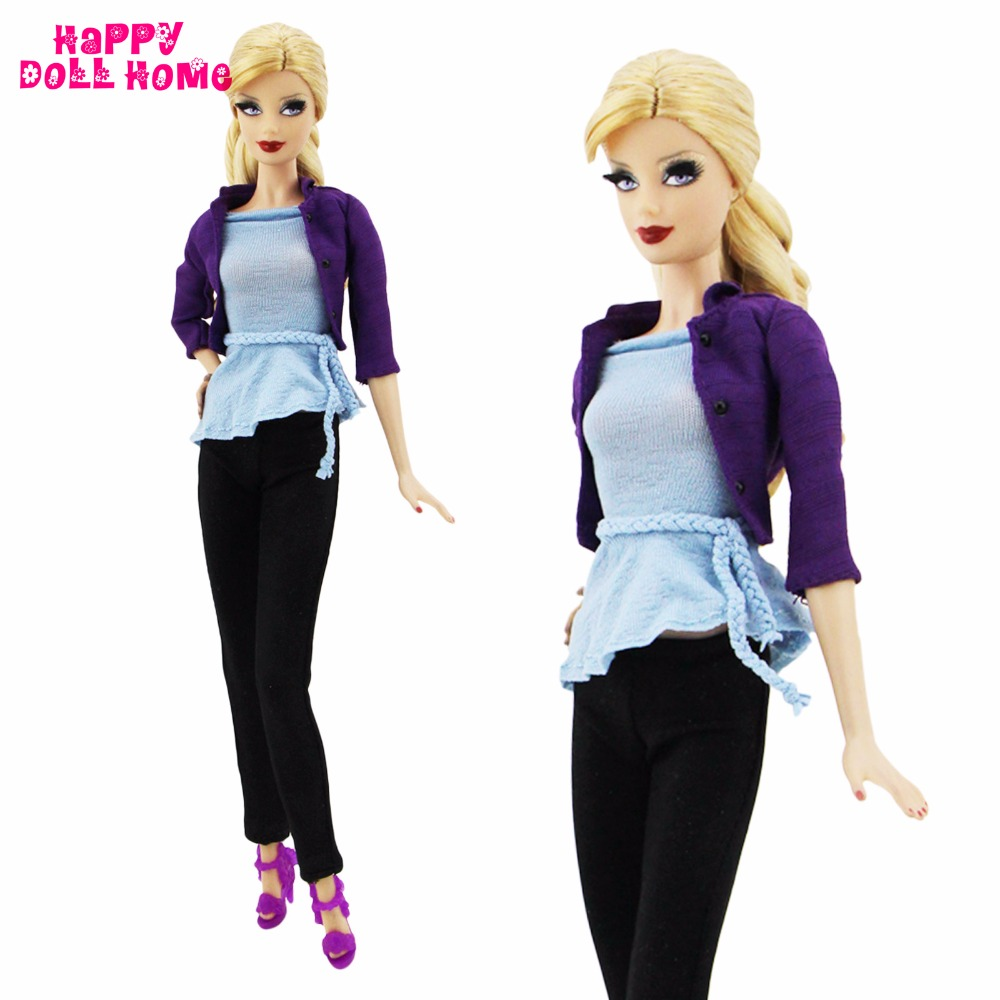 Handmade Dairy Outfit Suit Knitted Casual Elegant Concise Wear High Quality Pant Costume Shoe For Barbie Doll Clothes Girl Gift temptations creamy dairy flavor treats for cats 16 ounce