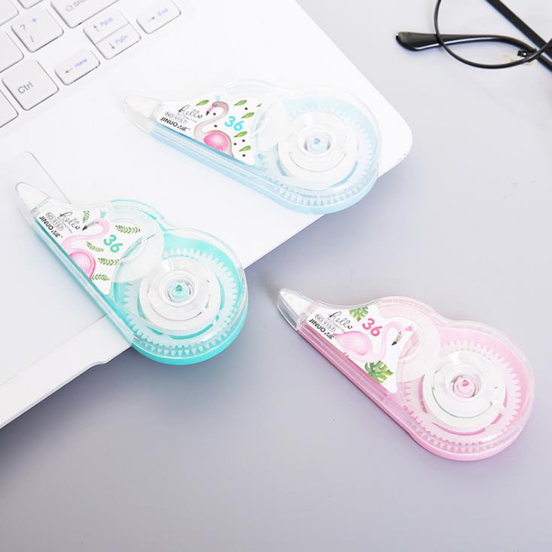 1 Pcs Cartoon 30m*5mm Animal Flamingo Correction Tapes Pen Ink Erase Tape School Office Supply Student Stationery Gifts
